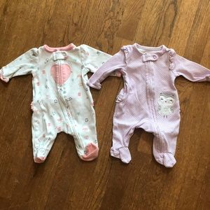 Carter's set of 2 Newborn Sleepers